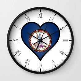 Love Virginia Wall Clock