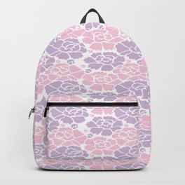Japanese Wave of Flowers Blossoms Seamless Patterns Symbols Backpack