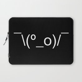 I Dunno LOL Emoticon ¯\(º_o)/¯ Japanese Kaomoji Laptop Sleeve