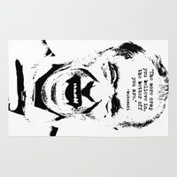 bukowski Area & Throw Rugs featuring Charles Bukowski Quote Crap by Fligo