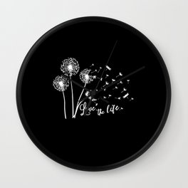 Dandelion Flowers floral print woman Gift Wall Clock