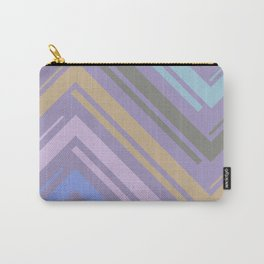 Purple Zigzag Line Pattern Carry-All Pouch