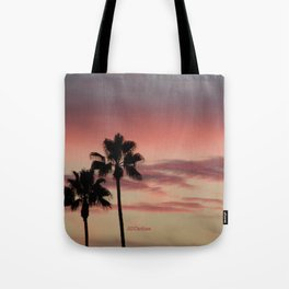 Atmospherics Number 3: Two Palms in the Sunset Tote Bag