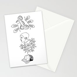 Science Fiction Character Illustration Stationery Cards