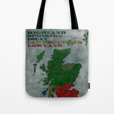 The Five Regions of Scotch Whisky (woodpress) Tote Bag