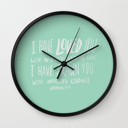 Everlasting Love x Mint Wall Clock