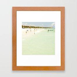 Seaside Swim Framed Art Print