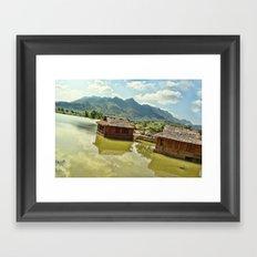 Water Huts 2 Framed Art Print