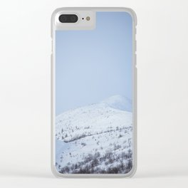 Alpine whte Clear iPhone Case