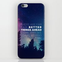 """pocketfuel iPhone & iPod Skins featuring CS Lewis """"Better Things Ahead"""" by Pocket Fuel"""
