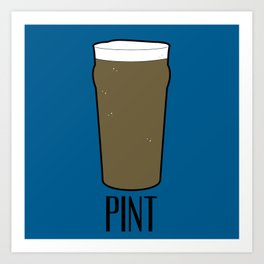 Beer Glasses (Pint) Art Print