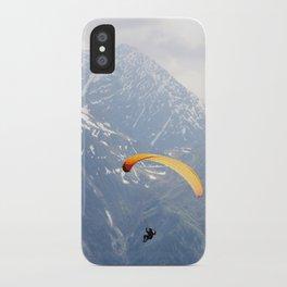 Parachute in Chamonix iPhone Case