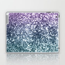 Aqua Purple Ombre Glitter #4 #decor #art #society6 Laptop & iPad Skin