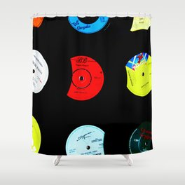 Vinyl Records Version 2 Shower Curtain