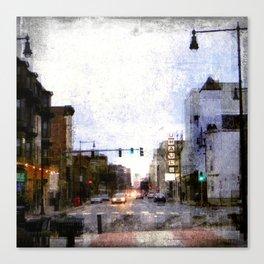 A Street in Cambridge Canvas Print