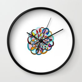 Overlapping Circles with a Pop of Vibrancy Wall Clock