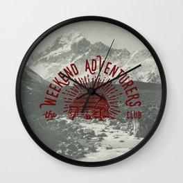 Weekend Adventurers Club Wall Clock
