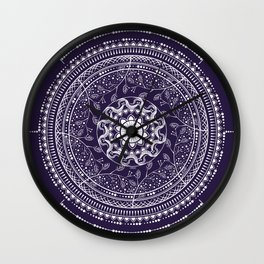 Indian Mandala Wall Clock