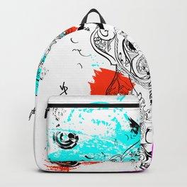 Dog Doodle Chinese Backpack