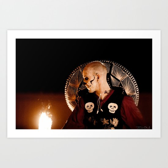 Los Muertos Mariachi Art Print