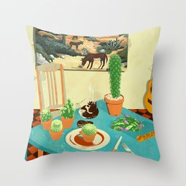 LA MESA DE CACTUS Throw Pillow