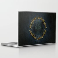 the lord of the rings Laptop & iPad Skins featuring The Lord Of The Rings Logo by Janismarika