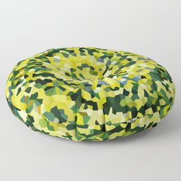 Yellow and Blue Crystallized Swirls Floor Pillow