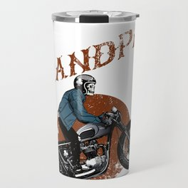 Mens Real Grandpas Ride Motorcycles graphic Funny Gift for Dads Travel Mug