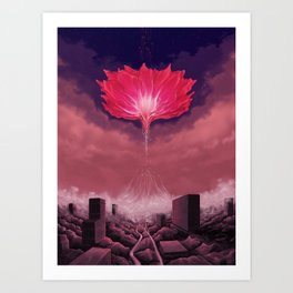 Flower of Singularity Art Print