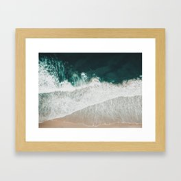 Lost waves Framed Art Print