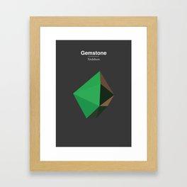 Gemstone - Xirdalium Framed Art Print