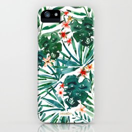 TROP DON'T STOP Tropical Palms and Monstera iPhone Case