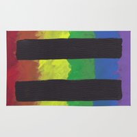 equality Area & Throw Rugs featuring Marriage Equality by The Painted Kat