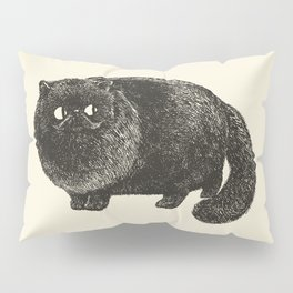 Black Persian Cat Pillow Sham