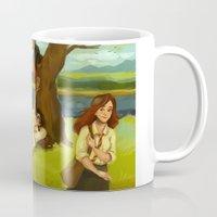 hogwarts Mugs featuring Hogwarts Days by Dasha Borisenko