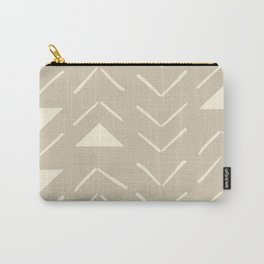Mud Cloth Vector in Tan Carry-All Pouch