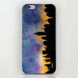 New York City Skyline Starry Night iPhone Skin