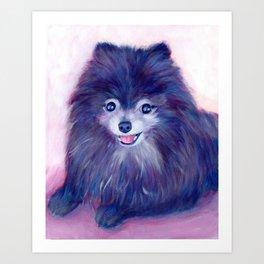 Purple Pomeranian Art Print