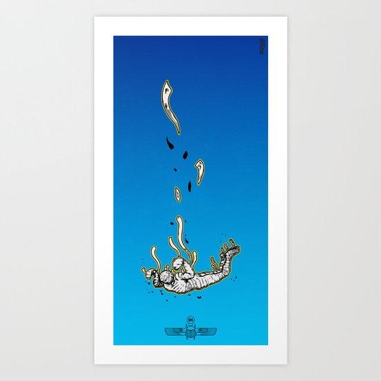 The Skydiving Mummy Art Print