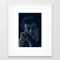 kurt vonnegut Framed Art Prints featuring Kurt Vonnegut Typographic Print by Bookish Prints