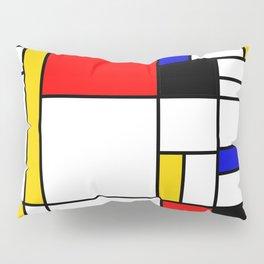 Bauhouse Composition Mondrian Style Pillow Sham