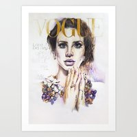 lana Art Prints featuring Lana by Kim Maria Morrow