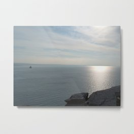 A KING'S VIEW TINTAGEL CASTLE CORNWALL Metal Print