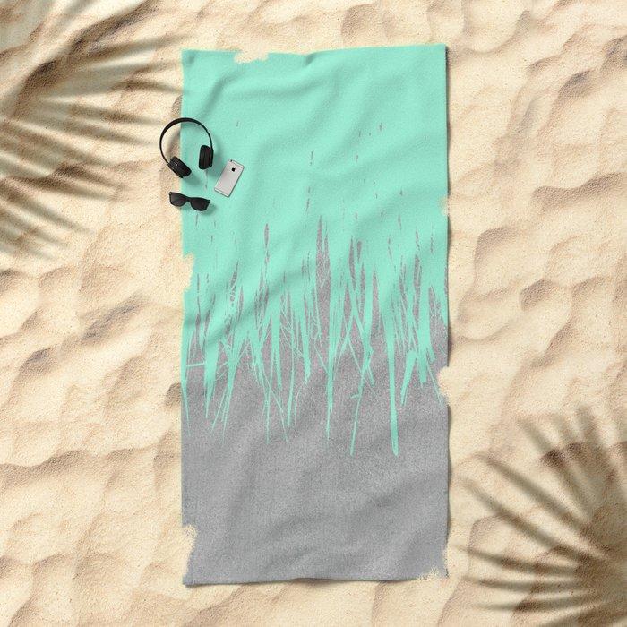 Fringe Concrete Mint Beach Towel