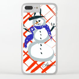 A Frosty Snowman DP150903c Clear iPhone Case
