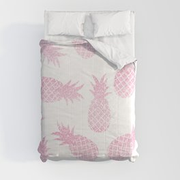 Pastel Pink Pineapples Comforters