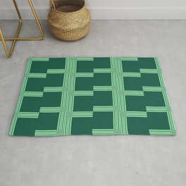 Framed in Green pattern Rug
