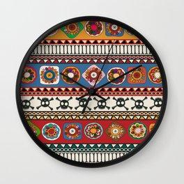 Aztec background Wall Clock
