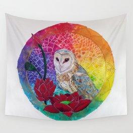 Lakshmi's Vahana ( Bird Whisperer Project Owl ) Wall Tapestry