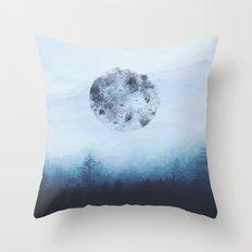 Watercolor Moon Throw Pillow